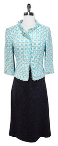 Nanette Lepore Wool Skirt Dark Navy