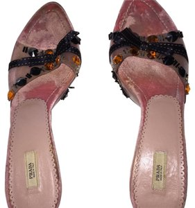 Prada Pink/Black/Orange Mules