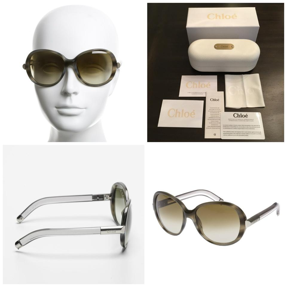f8451c1ad2e2 Chloé SUNGLASSES NEW with case and cards CHLOE HORN TORTOISE W  LUCITE ...