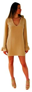 Other short dress Beige Silk V-neck Cocktail Day Holiday Mini Longsleeve on Tradesy