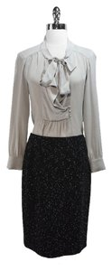 Lafayette 148 New York Tweed Skirt Black/White