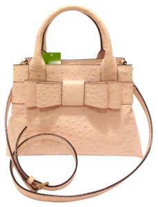 Kate Spade Pastel Leather Textured Satchel in Pink