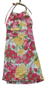 Ann Taylor LOFT short dress Multicolored Floral Halter on Tradesy