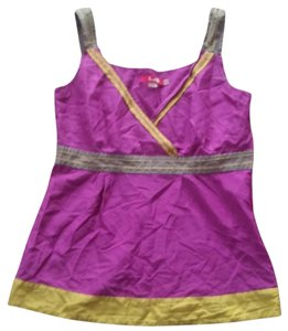 Boden Yellow Gray Top Purple