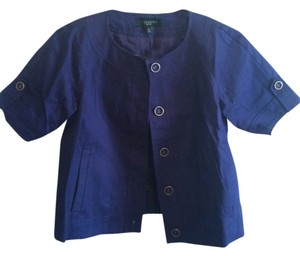 Talbots Short Sleeved Casual Navy blue Blazer
