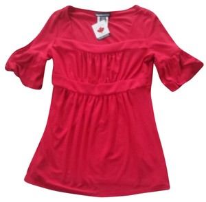 Frank Lyman Baby Doll Slimming Size 8 Top Red