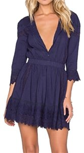 Tularosa short dress Navy on Tradesy