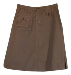 Blue Dot Skirt Brown and cream