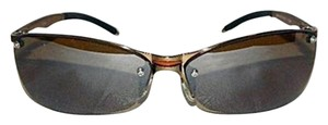 Max Studio New Max Studio Bronze Metal Rimless Sunglasses with Case