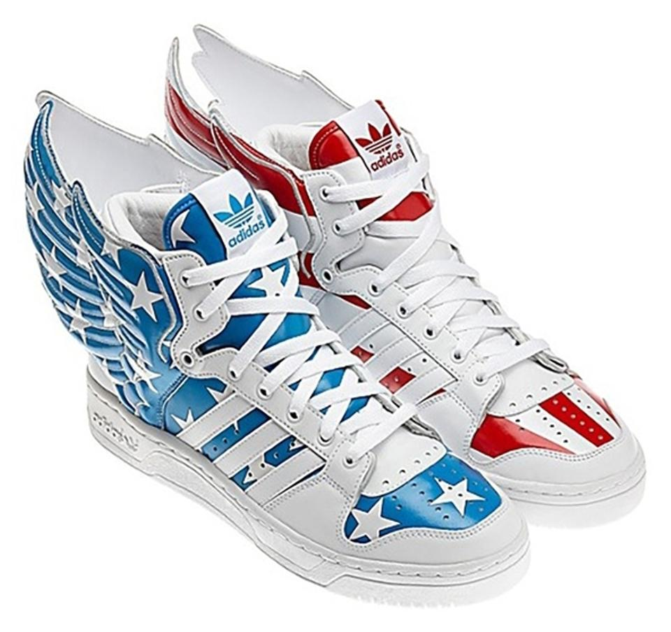adidas väska, Adidas Originals Jeremy Scott Wings Denim Blue