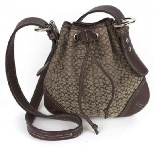Preload https://item1.tradesy.com/images/coach-handbag-brown-canvas-and-leather-shoulder-bag-137375-0-0.jpg?width=440&height=440
