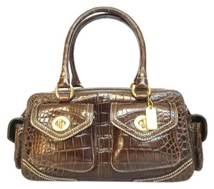 Coach Alligator Handbag Tote in brown