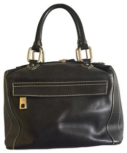 Marc Jacobs Vintage Leather Mark Satchel in Black