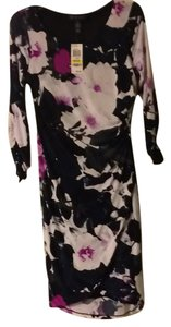 INC International Concepts Floral Longsleeve Tulip-front Sheath Dress