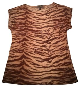 Ralph Lauren Active Tiger Print Top Brown