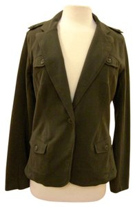 Lucky Brand Soft Casual Army Jacket Green Blazer