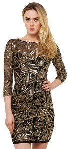 Other Sequin Prom Mini Black Dress