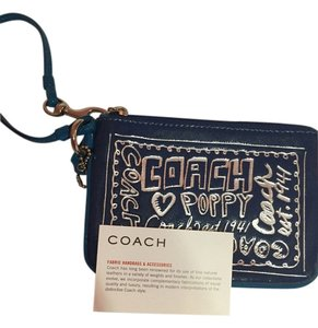 Coach Cobalt Wrislet New Wristlet in blue