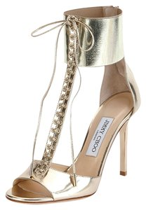 Jimmy Choo Mahine Lace-up New CHAMPAGNE Sandals