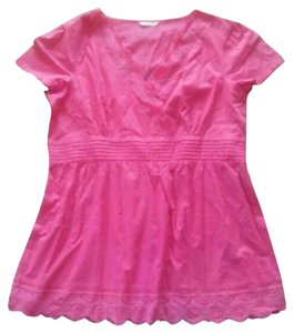 Marks & Spencer & Eyelet Shirt Size Xl 1x Top Pink