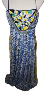 Blue Maxi Dress by Anthropologie Maxi Summer Beaded