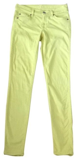 Item - Yellow Light Wash The Skinny Jeans Size 24 (0, XS)