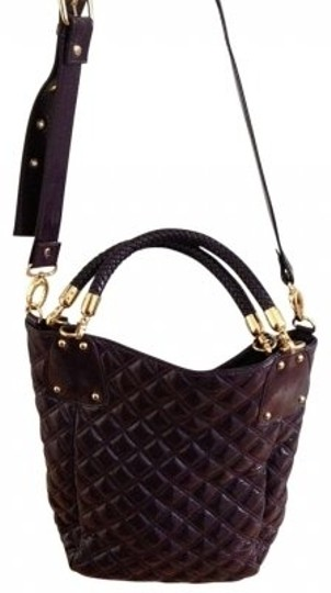 Preload https://item2.tradesy.com/images/big-buddha-large-purse-deep-purple-quilted-shiny-soft-leather-like-shoulder-bag-137401-0-0.jpg?width=440&height=440