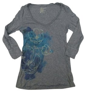 American Eagle Outfitters Floral Top Gray