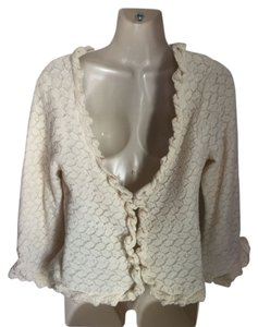 Anthropologie Guinevere Wool Lace Sweater Cardigan
