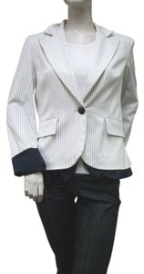 Penta Jacket White Navy Stripe Blazer