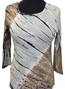 Tryst Top Blue, white /mixed