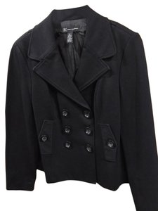 INC International Concepts Work Evening Button-up Peacoat Black Blazer