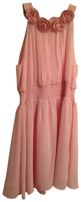Preload https://item2.tradesy.com/images/forever-21-rose-pink-floral-neckline-chiffon-flounce-cocktail-dress-size-8-m-137421-0-0.jpg?width=400&height=650
