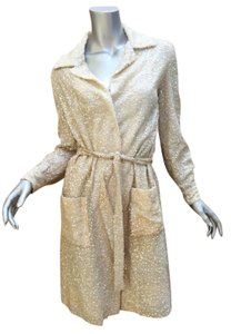 Sophy Curson Vintage Sequin Formal Trench Coat