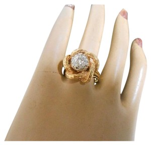 New York Jeweler Vintage Diamond Dome Ring in Yellow Gold
