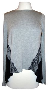 Heather Lace Silk Casual Comfortable Top Grey