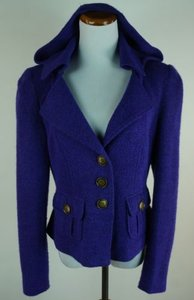 Nanette Lepore Hooded Wool Purple Jacket