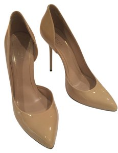 Gucci Beige - Nude Patent Leather Pumps