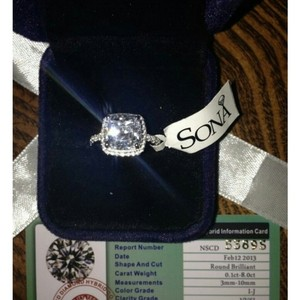 All Sizes Vvs1 3ct Cushion Cut Diamond Pt950 3ct Nscd Sona Simulated Solitaire Diamond Rin 3 Engagement Ring