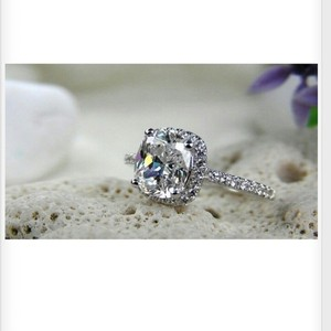 3ct All Sizes 4 5 6 7 8 9 New Diamond Cushion Engagement Ring