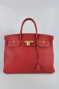Hermès Birkin 40cm Togo Leather Leather Tote in Red