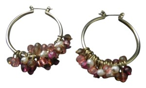 Coldwater Creek Coldwater Creek Pink and White Bead Hoops