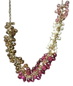 Coldwater Creek Coldwater Creek Pink and Pearl Beaded Chain Necklace