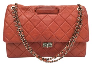 Chanel Double Flap Satchel in red