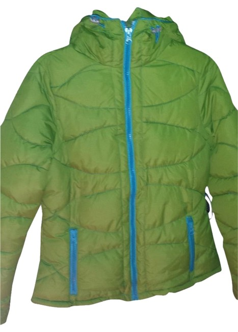 a.n.a. a new approach mossy green with turquoise zippers and lining. Jacket
