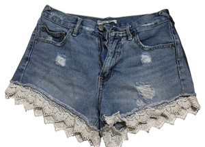 Free People Mini/Short Shorts Blue jean