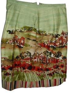 NYC Design Company Embellished Rust Office Stretch Skirt