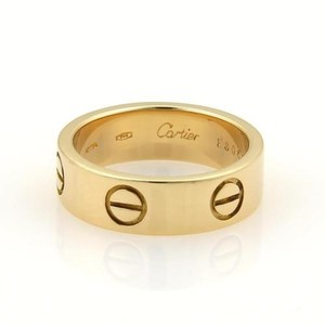 Cartier Cartier Love 18k Yellow Gold 5.5mm Wide Band Ring Eu 51-