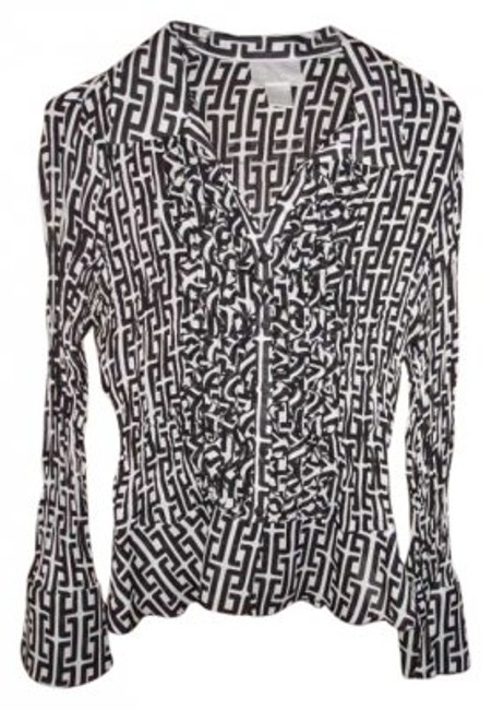 Preload https://img-static.tradesy.com/item/137476/worthington-black-and-white-button-down-top-size-12-l-0-0-650-650.jpg