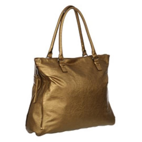 Mondaine Expandable Zip Sides Dual Rolled Handles Gunmetal Hardware Tote in Russet